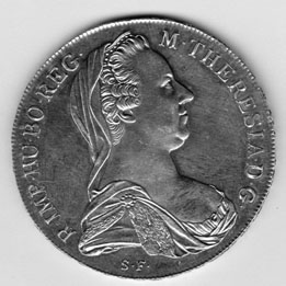 Obverse of Maria Theresa Thaler